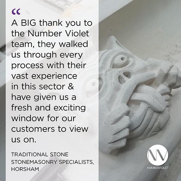 Construction Industry Testimonial - Number Violet