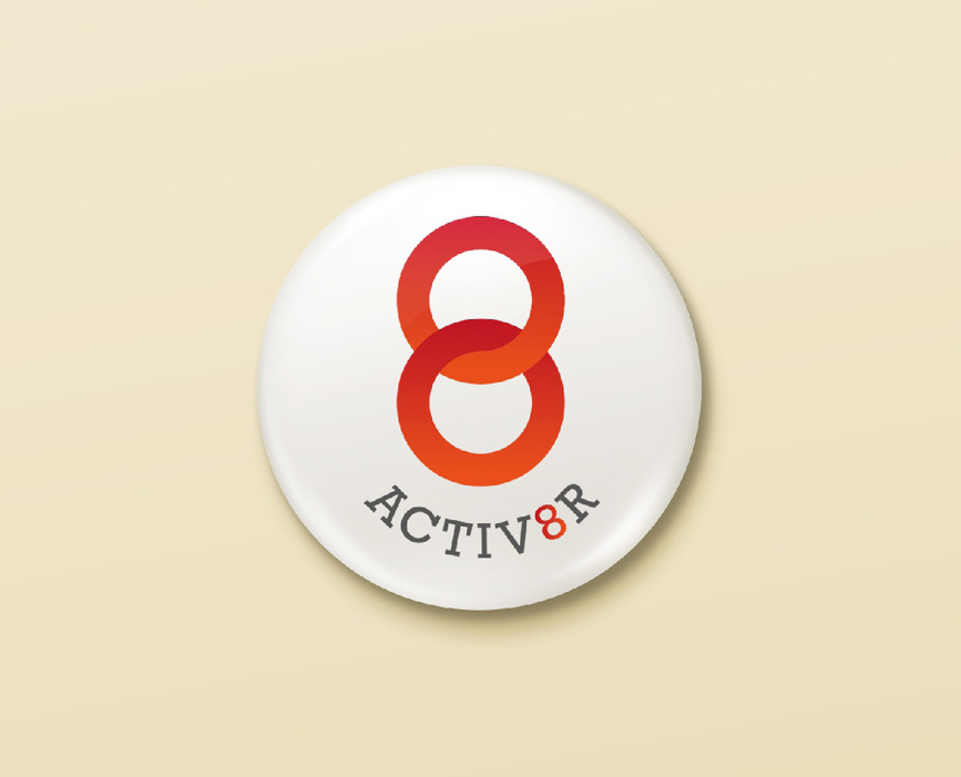 ACTIV8R PROJECT LOGO DESIGN - NUMBER VIOLET