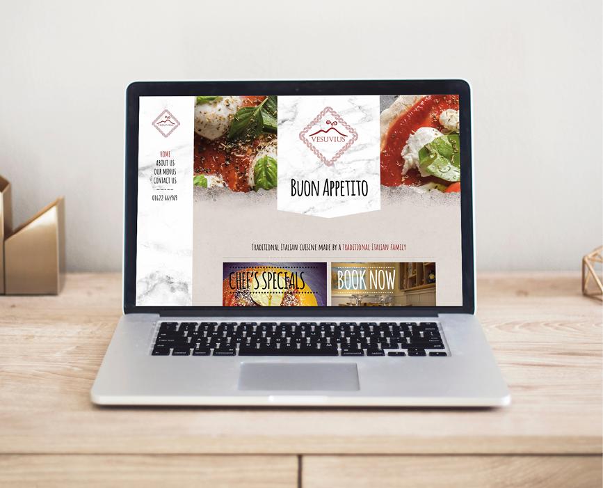 Italian Restaurant website by Number Violet
