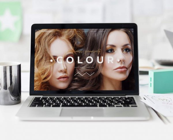 GDG Hair Beauty Website Design by Number Violet