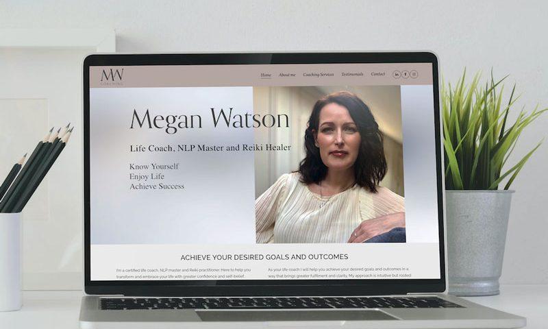Megan Watson Coaching - Website & Branding - Number Violet