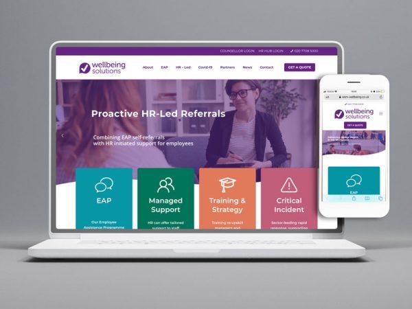 Wellbeing Solutions - Complete Rebrand - Number Violet