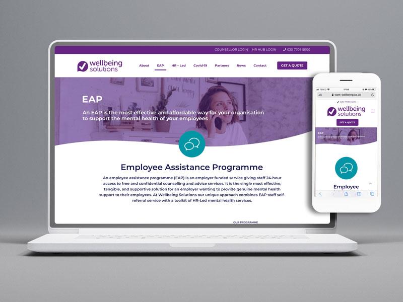 Wellbeing-Solutions-Website-Development-by-Number-Violet-Design-Agency